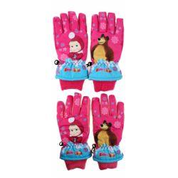 Lyžiarske rukavice Máša a medveď