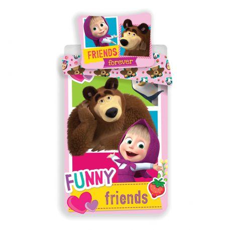 Obliečky Máša a medveď- Friends